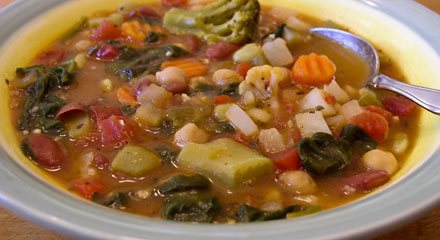 Easy Bean and Vegetable Soup
