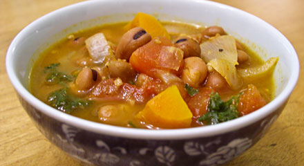 Ful Nabed (Egyptian Bean and Vegetable Soup) | Fatfree Vegan Recipes