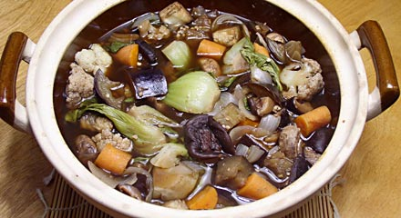Claypot-Cooked Vegetables with Shiitake and Chinese Five-Spice