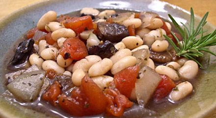 Portabella and White Bean Cassoulet