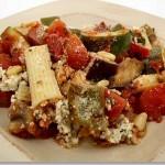 Rigatoni with Zucchini and Eggplant
