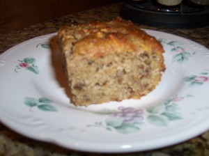 A serving of Banana Bread