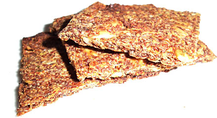 Italian Flavored Flax Seed Crackers