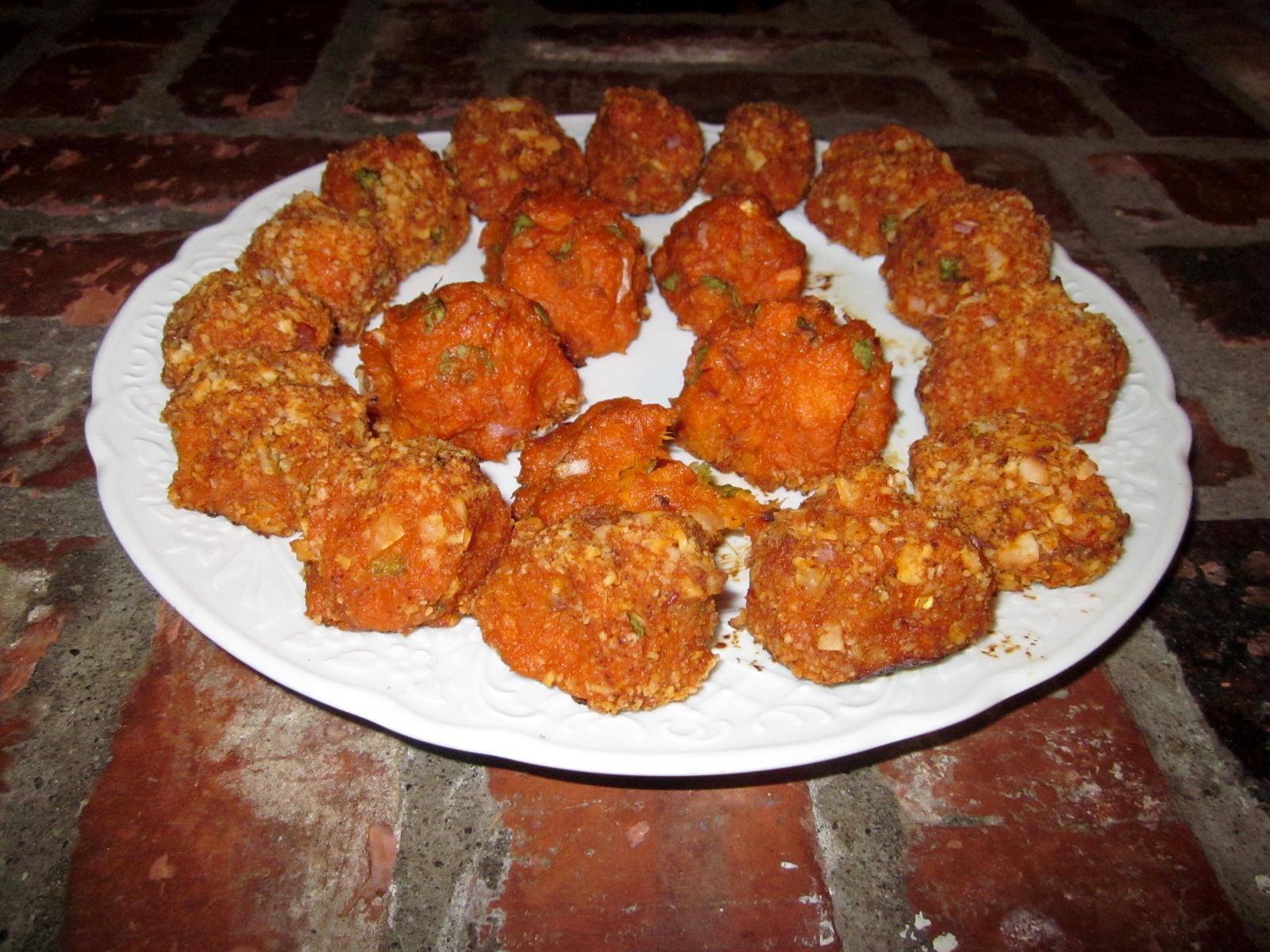 Savoury Baked Sweet Potato Balls | Fatfree Vegan Recipes
