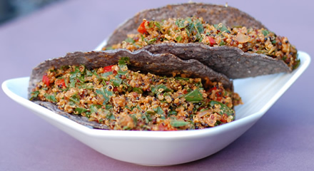 Tri-color Quinoa and Greens Taco Filling
