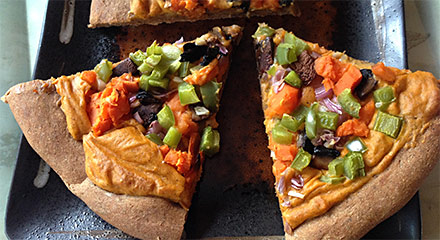 Sweet Potato Veggie Pizza