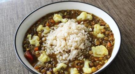 Triple Lentil and Cauliflower Soup