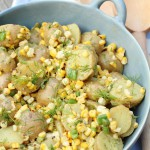 Potato and Grilled Corn Salad with Fresh Dill