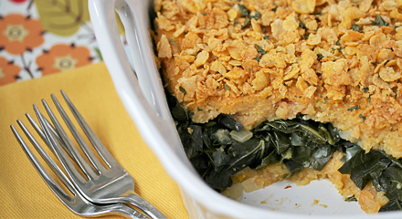 Southern Grits and Greens Casserole | Fatfree Vegan Recipes