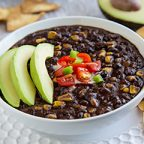 Simple Instant Pot Black Bean Soup at FFVK