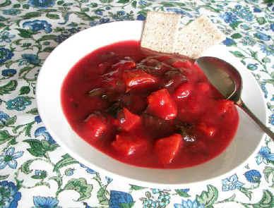 Beet Sweet Potato Soup