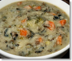 Creamy Vegetable Wild Rice Soup