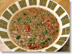 Lentil Tabouli Soup