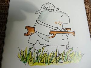 Boynton Hippo with Chocolate Gun