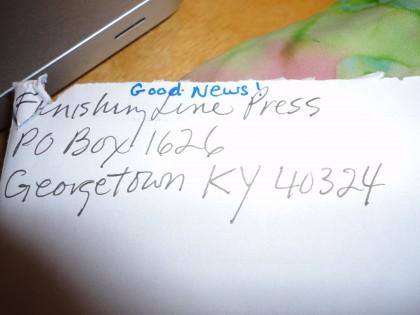 return envelope from Finishing Line Press
