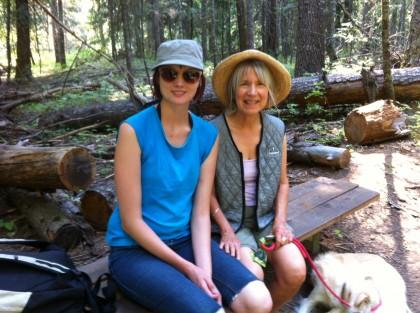 on the trail at Elk Creek Falls Idaho