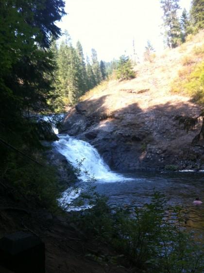 Elk Creek Falls, northern Idaho, upper falls