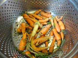 Carrots cleaned up