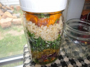 Lentil Taco Salad in a Jar