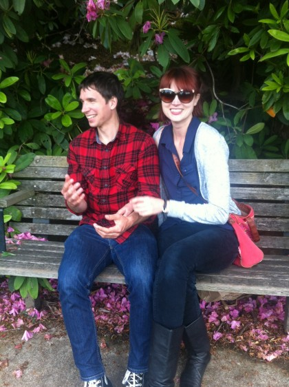 Mike and Kelly in Portland Rose Garden