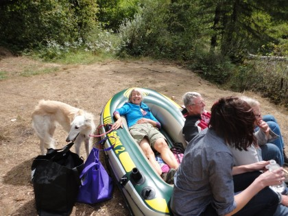 Me in raft at Clackamas