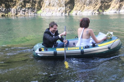 Mike rowing Kelly