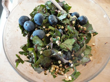 breakfast bowl with kale closer