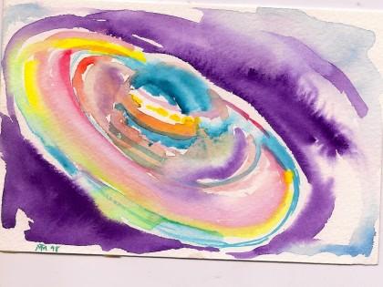 Saturn watercolor