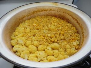 Yellow Split Pea Rice Cauliflower Pilaf