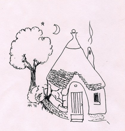 Alberobello Trullo Drawing