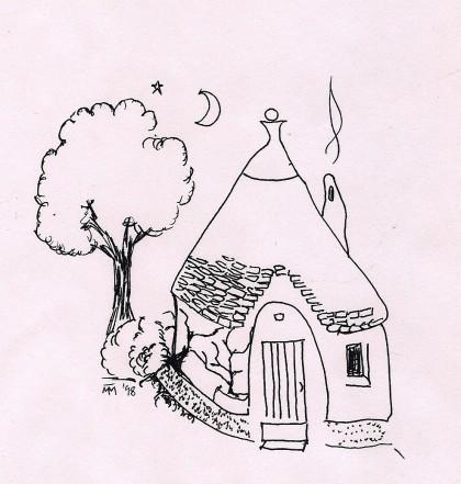 Alberobello Trullo Drawing