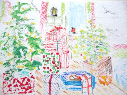 Christmas Trees and Presents by Maria Theresa Maggi