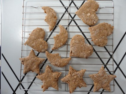 Ginger Snappy Moons, Stars and Hearts on rack