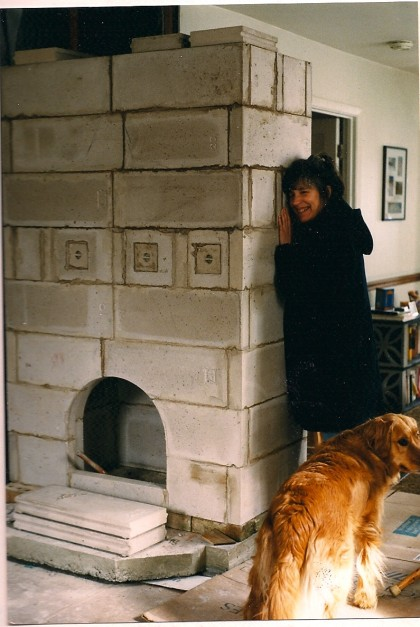 masonry stove core in progress