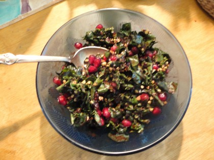 Decadent Kale and Pomegranate Breakfast Salad 3
