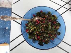 Decadent Kale and Pomegranate Salad 3