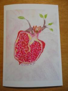 I Love You Pomegranate Heart card
