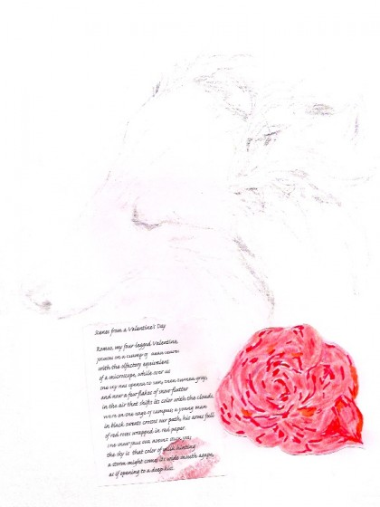"original drawings and poem ""Scenes From a Valentine's Day"" by Maria Theresa Maggi"