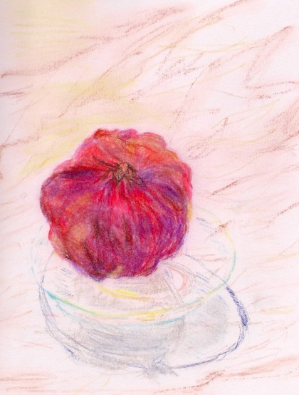 original chalk pastel drawing by Maria Theresa Maggi