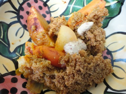 Apple Carrot Amaranth Bake with Mustard