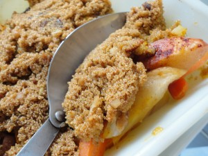 Apple Carrot Amaranth Bake with Spoon