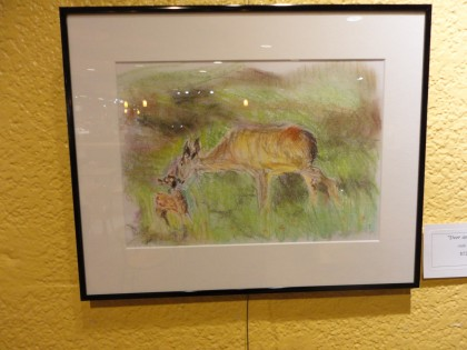 co-op show deer and fawn by Maria Theresa Maggi