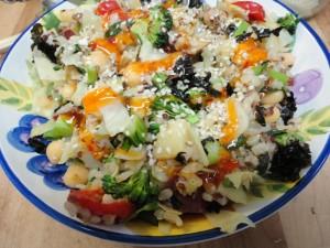 Asian style vegan lunch bowl 3