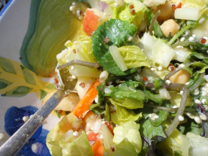 Last Minute  Chopped Salad with Sprouted Quinoa