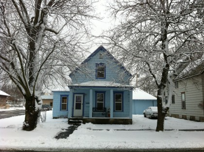 house in snow Dec 24 2012