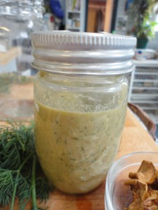 Dried Apple Dill Vinaigrette Oil Free