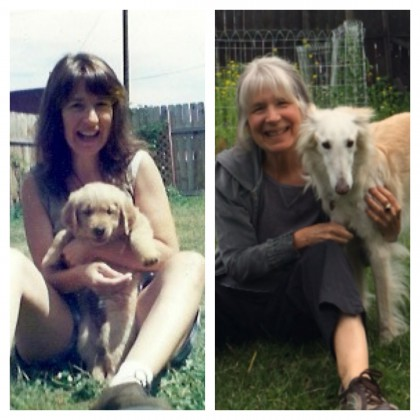 Maria and Dogs 20 Years Apart