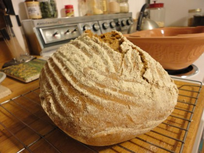 whole meal spelt sourdough bread