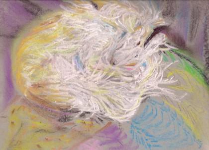 original chalk pastel by Maria Theresa maggi