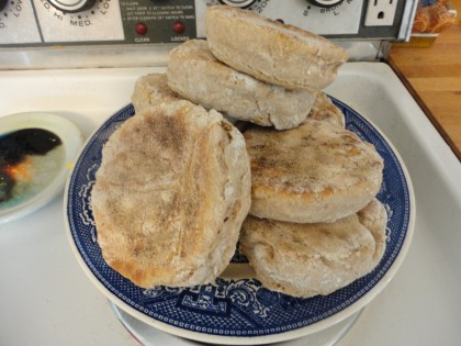 Vegan Spelt Sourdough  English Muffins